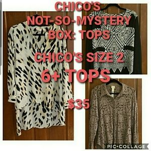 CHICO'S NOT-SO-MYSTERY BOX OF TOPS SIZE 2
